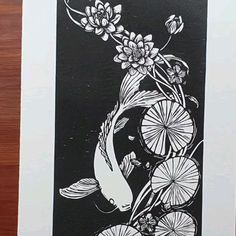 """Companion piece for """"Over the Persimmon Tree"""" Art Painting, Illustrations Posters, Drawings, Linocut, Relief Printmaking, Art, Linocut Art, Printmaking Art, Prints"""