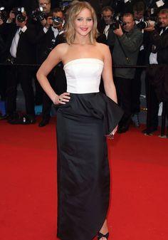 Jennifer Lawrence en Christian Dior. Cannes 2013