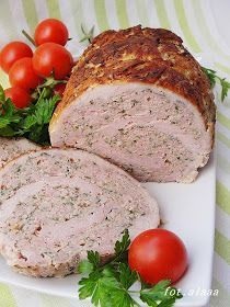 Ala piecze i gotuje: Rolada z schabu z mięsem mielonym Pork Recipes, Cooking Recipes, Home Made Sausage, Czech Recipes, Pork Dishes, Barbacoa, Food Design, Love Food, Food To Make