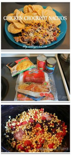 Chicken Crockpot Nacho Recipe - easy dinner idea for busy families [slow cooker recipe]