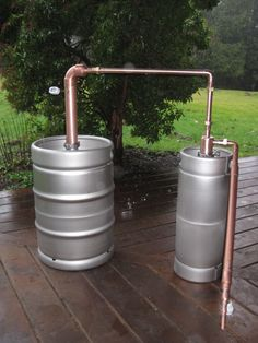 "Buy it with or without the kegs!  A proven traditional still design made with modern equipment. This still  has a proof output of 160 - 170.  This setup uses our 2"" pot still along  with our beer keg thumper attachment. All piping is 3/4 inch. A minimum  number of elbows in the piping increases the flow rate for a faster running  still.   Scroll down to watch video.  Stainless steel kegs or kettles will retain heat much better than copper  pots, causing the still to run faster and b..."