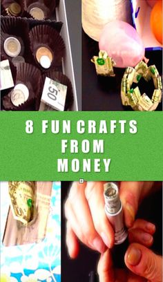 8 FUN CRAFTS FROM MONEY You will love these ideas of how to make crafts from money!