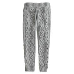 Her favorite sweater in legging form? Absolutely. Our cable-knit leggings combine warmth with comfort (thanks to an easy elastic waist) for a one-two punch that will KO winter chills—and have her looking supercute too. <ul><li>Wool/nylon/viscose.</li><li>Elastic waistband.</li><li>Slant pockets.</li><li>Hand wash.</li><li>Import.</li><li>Online only.</li></ul>