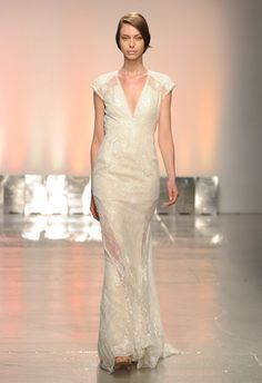 Less is more from Rivini Spring 2015 | Photo by Kurt Wilberding | via The Knot Blog