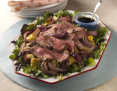 Grilled Beef, Summer Squash and Onion Salad