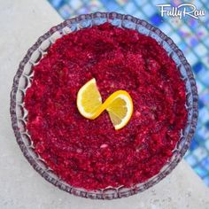 FullyRaw & Vegan Cranberry Sauce: In a food processor, mix the ...