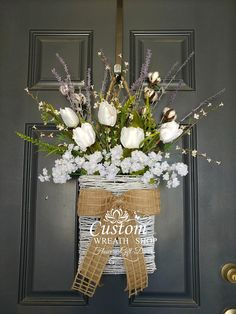 Summer Wreath, Cotton Wreath,Farmhouse Wall Décor , Tulip Wreath, Front Door Basket, Rustic Décor , Mothers Day, Wedding Wreath, Rustic Wreath,Grapevine Wreath ,White Tulip Basket There are so many options when it comes to decorating with rustic wood signs, too. Whether you're