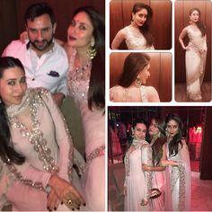 Saif Ali Khan, Kareena and Karisma Kapoor and Amrita and Malaika Arora (Source: @therealkarismakapoor Instagram)