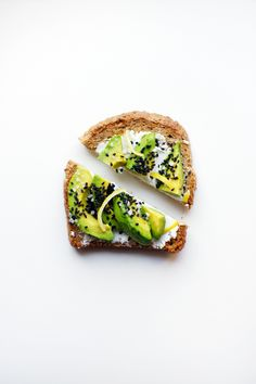 avocado toast with goat cheese, black sesame seeds and lemon zest