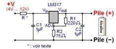 regulateur de tension lm317 montages 12