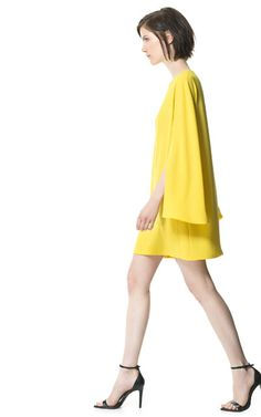 DRESS WITH CAPE SLEEVE from Zara (s/s 2013)