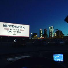 Probando el autocine de Madrid. #autocinemadrid #autocinerace #cuatrotorres