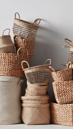 Get organised with our clever (and chic) storage solutions. From roomy laundry b. - Home stuff Home Decor Baskets, Basket Decoration, Storage Baskets, Laundry Baskets, Laundry Storage, Diy Storage, Storage Ideas, Rattan, Wicker