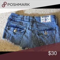 Daisy duke true religion shorts Great condition true religion shorts in size 24 True Religion Shorts Skorts