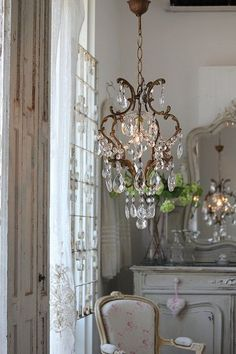 Chandelier, every home needs some bling...