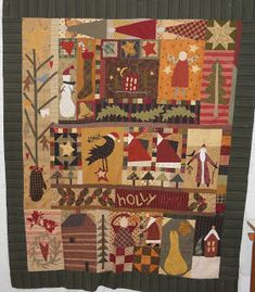 Christmas Sampler Downloadable PDF Quilt Pattern Sew Happy.Me