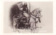 Rudolph Valentino on Jadaan at Pomona Quartermaster Depot. Rare undated RPPC.