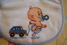 Baby Cross Stitch Patterns, Cross Stitch Baby, Baby Knitting Patterns, Cross Stitch Designs, Cross Stitching, Cross Stitch Embroidery, Hand Embroidery Videos, Baby Sewing, Crochet Baby