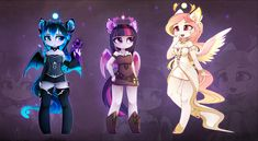 Anthro goddesses by MagnaLuna