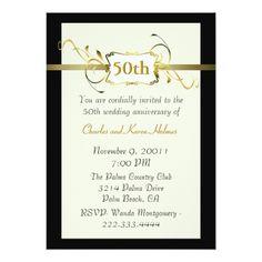 Gold Anniversary Invitation