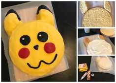 Pikachu-Torte mit Fondant und Buttercreme selbst backen. Der perfekte Kuchen für eine Pokemon Party! Mehr Infos auf https://mamaskind.de.