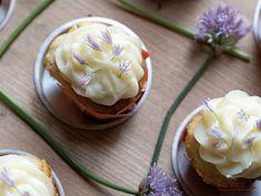 Popcorn Chive Blossom Cupcakes
