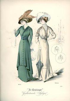De Gracieuse, November 1908, Edwardian Fashion Plate