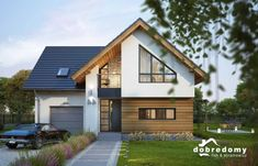 House Roof, Facade House, Dream House Plans, My Dream Home, Exterior Design, Interior And Exterior, White Exterior Houses, Beautiful Small Homes, Architectural House Plans