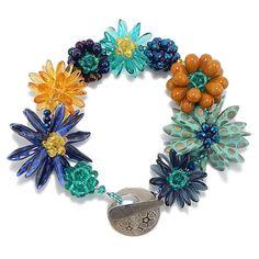 Beaded Bead DIY Flower Bracelet Kit, Jewelry Making Kit, Forever Flowers by 1beadweaver on Etsy https://www.etsy.com/au/listing/240849177/beaded-bead-diy-flower-bracelet-kit