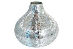 "8"" Mosaic Glass Vase on OneKingsLane.com"