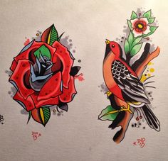 Davide Capone Tattoos #sketch #flash #illustration #art #tattoo #traditional