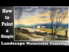 Watercolor landscape: How to paint a simple landscape with wash watercolor technique part Watercolor Landscape Tutorial, Watercolor Paintings, Watercolour, Watercolor Techniques, Drawings, Simple, Brushes, Artist, Craft Projects