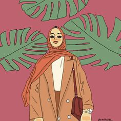 It's Sena Saveer! #illustration #digitalillustration #fashionillustration #fashionhijab #selebgram #girl #sarstudios_ Hijab Cartoon, Cartoon Icons, People Illustration, Illustration Girl, Illustrations, Character Art, Character Design, Hijab Drawing, Lookbook Design