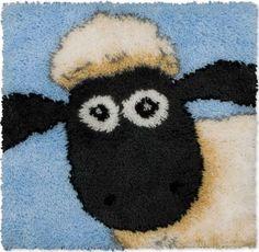 Kit tapis au point noué - The sheep portrait