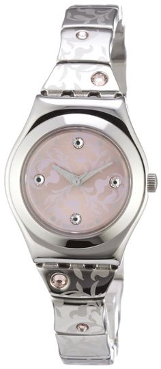 Swatch Women's CORE COLLECTION YSS248G Silver Stainless-Steel Quartz Watch with Pink Dial, (casual watch, swatch, watches, metallic, atomic watch, swatch watch, lo recomiendo, swatch skin)