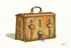 Vladimir Kush: Living out of a suitcase.