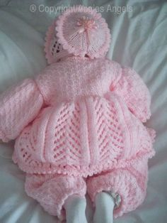 Crochet Dolls Design Angies Angels patterns - exclusive designer knitting and crochet patterns for your precious baby or reborn dolls, handmade, handknitted, baby clothes, reborn doll clothes Baby Cardigan Knitting Pattern Free, Baby Sweater Patterns, Knit Baby Sweaters, Baby Knitting Patterns, Doll Patterns, Crochet Patterns, Knitting Dolls Clothes, Knitted Baby Clothes, Baby Doll Clothes