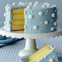 Blue and Yellow Cake