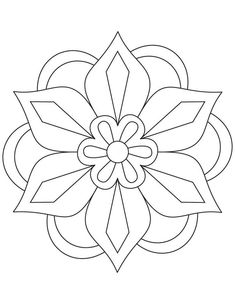 Simple Mandala Flower Coloring Pages. 30 Simple Mandala Flower Coloring Pages. Easy Flower Mandala Coloring Pages at Getdrawings Pattern Coloring Pages, Flower Coloring Pages, Mandala Coloring Pages, Colouring Pages, Coloring Pages For Kids, Simple Coloring Pages, Coloring Sheets, Adult Coloring, Coloring Books