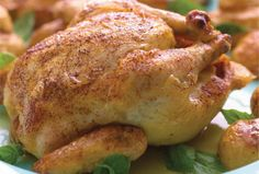 Roasted Cornish Hens with Fingerling Potatoes is an easy and filling recipe to serve before Yom Kippur.