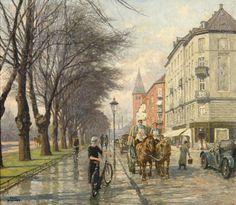 Paul Gustave Fischer (1860-1934) - Jagtvej Looking towards Vibenhus Runddel