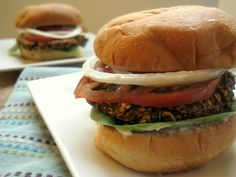 A-maz-ing Black Bean Veggie Burgers - 2 Points Plus per burger!