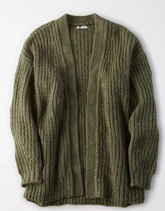 AE Slouchy Long Cardigan - - AE Oversized Cardigan Source by Oversized Knit Cardigan, Long Cardigan, Cardigan For Men, Sweater Cardigan, Belted Shirt Dress, Dress With Cardigan, Olive Green Cardigan, Houndstooth Dress, Mens Outfitters