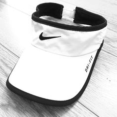 Nike Dry-Fit Running Visor (white & black) Nike Dry-Fit Visor (white & black). Used for running marathons but perfectly fine. Nike Accessories Hats