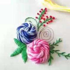 Hi my dear friends, I brought you some interesting flower training. Hand Embroidery Patterns Flowers, Basic Embroidery Stitches, Hand Embroidery Videos, Embroidery Stitches Tutorial, Embroidery Flowers Pattern, Creative Embroidery, Simple Embroidery, Hand Embroidery Designs, Beaded Embroidery