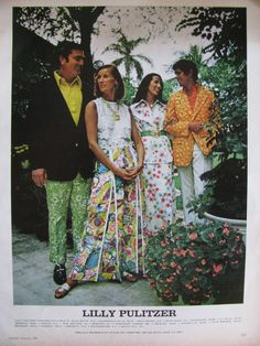 Vintage Lilly Pulitzer print ad from Vogue, February 1973.