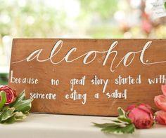 To put near the bar!   Wedding Receptions: 17 Ways to Spruce Up Your Site - Wedding Reception Planning - Wedding Reception Ideas
