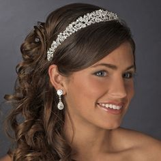 CZ Wedding Tiara Headband! Fabulous sparkle! Visit affordableelegancebridal.com for elegant wedding accessories!