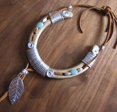 LUCK CATCHER Recycled and Hand tied Horseshoe by FernwoodArt