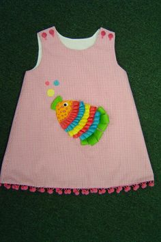 Martha Pullen Applique has instructions for the ribbon fish - This is from Martha Pullen board, but one can also do applique to a doll jumper using these techniques!!!